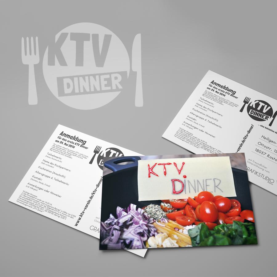 Branding Event KTV Dinner Rostock Grafikdesign Grafikdtudio Rostock