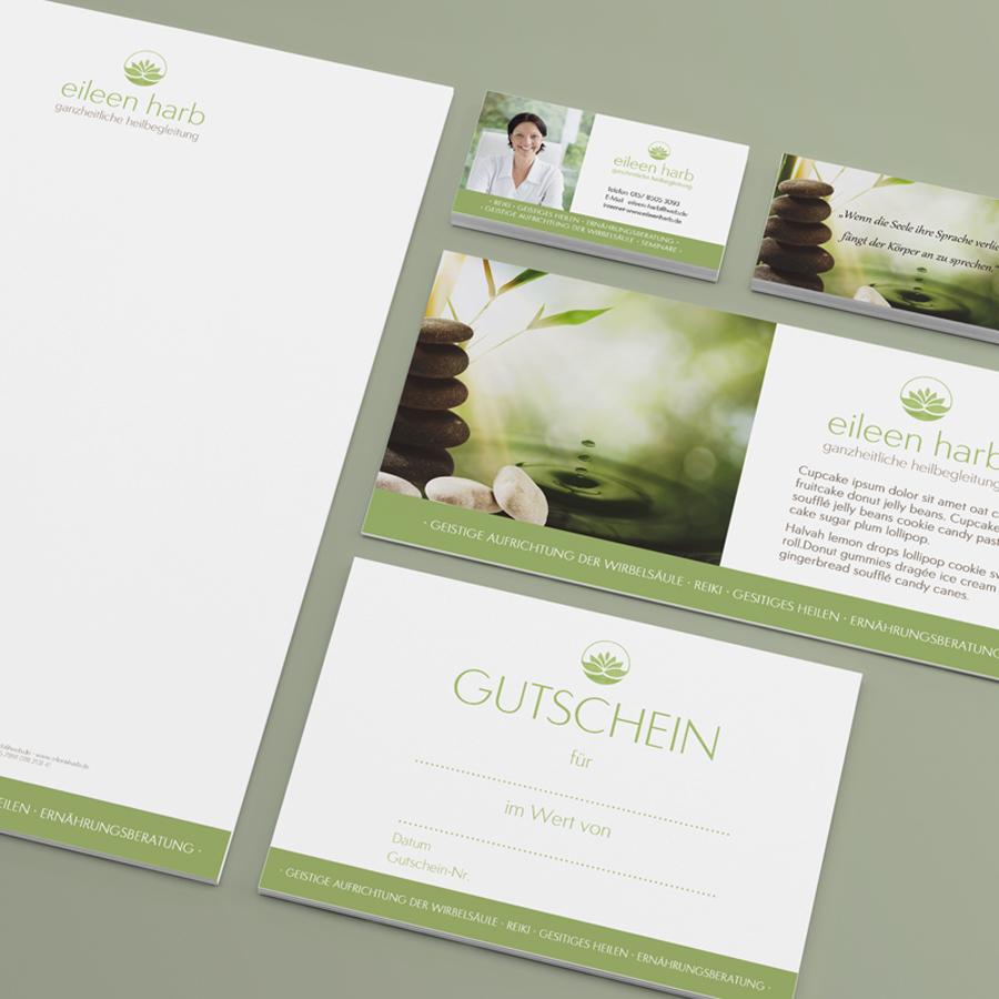 Geschäftsausstattung mit Briefpapier und Visitenkarte Printdesign Grafikstudio Rostock