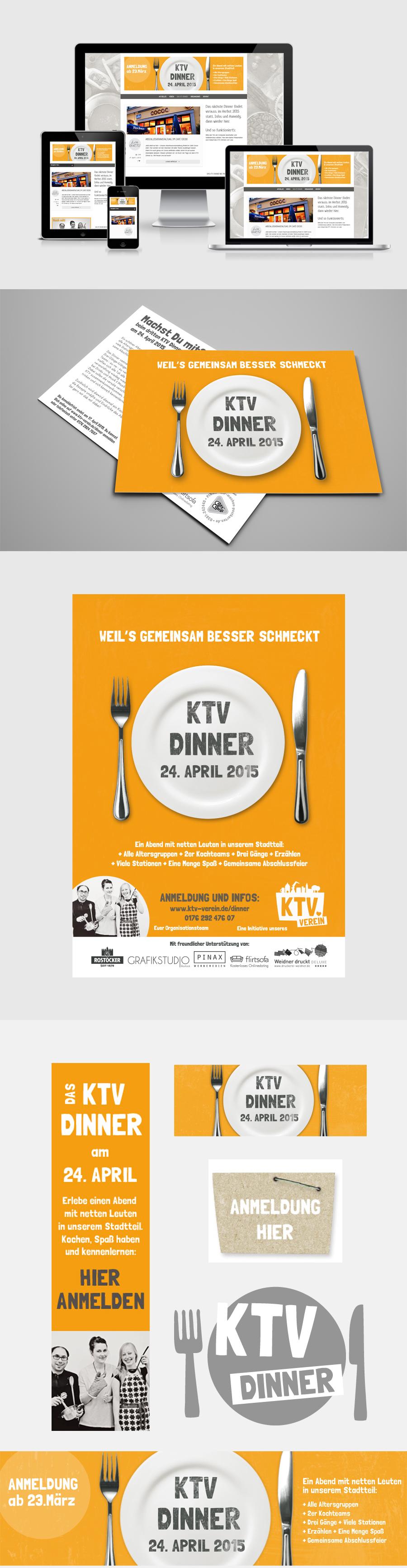 Event Branding Veranstaltung Design KTV Dinner Rostock Grafikdesign Grafikstudio Rostock