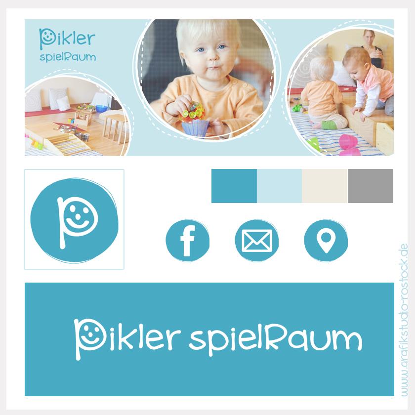 Social Media Grafiken Facebook Pikler Spielraum Rostock vom Grafikstudio Ute Papenfuss