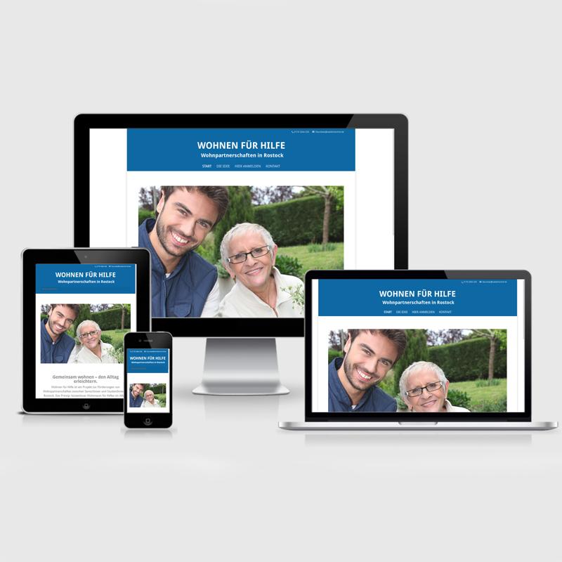 Webdesign Website für Senioren Grafikstudio Rostock