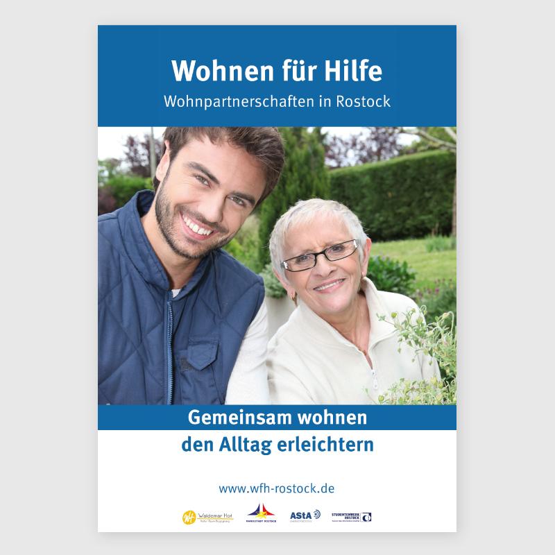 Poster Wohnen für Hilfe Rostock Grafikstudio Rostock
