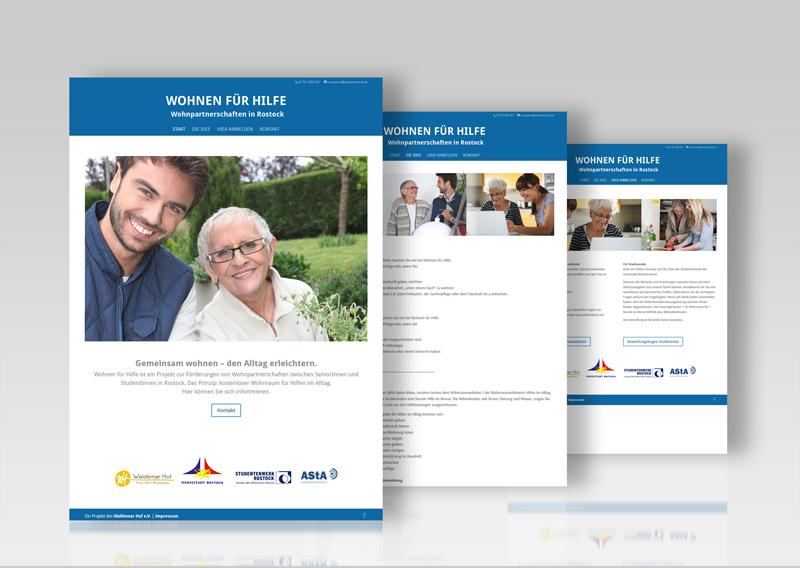Webdesign und Website Wohnen für Hilfe Rostock Grafikstudio Rostock