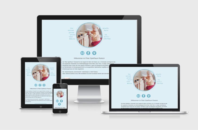 Web Visitenkarte Webdesign Grafikstudio Rostock