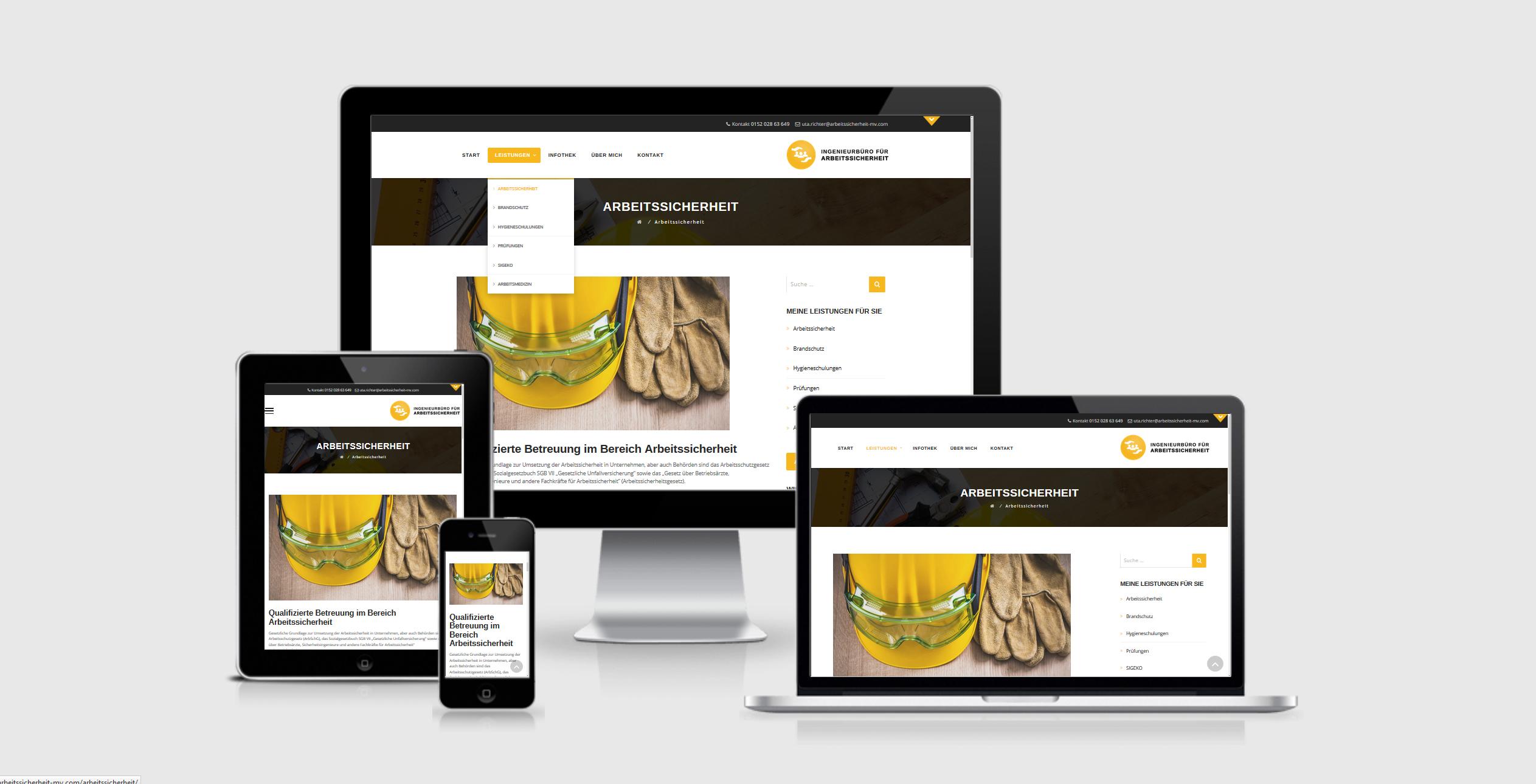Firmenwebsite website ingenieur