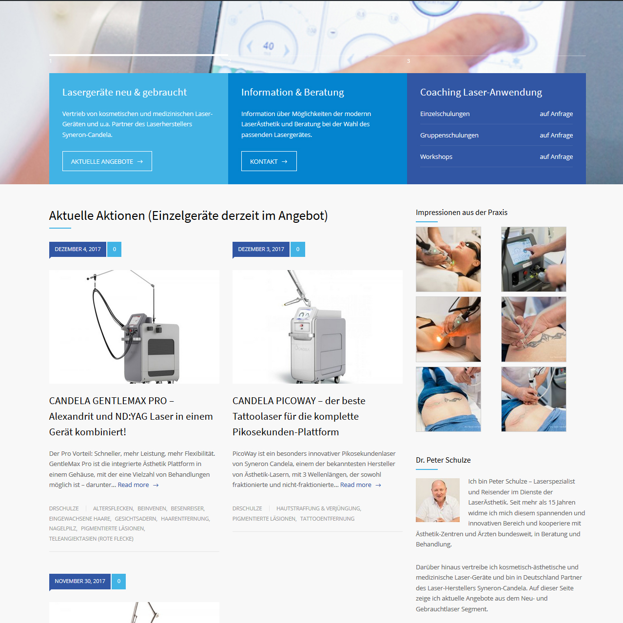 wordpress webdesign lasershop schulze
